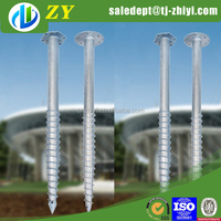 Japan standard hot dip galvanized screw tie down earth anchor and long screw posts for sale
