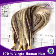 Fusion Brazilian Virgin Hair Extensions Stick I Tip Remy Human Ombre Hair 1g Strand
