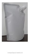 Stand Up Spout Pouch/ liquid stand up pouch with spout /reusable Spout Pouch