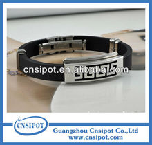 2015 fashion balance energy silicone bracelet