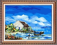 cottage by the sea oil painting by numbers