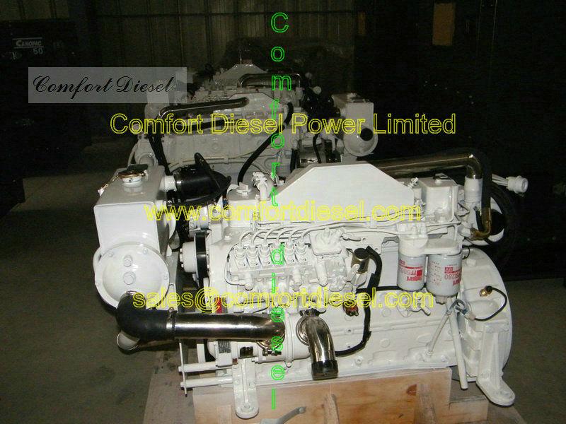 Propulsión marina sistema 6cta8. 3-m, 220-300HP / 2200 rpm con motores marinos para la pesca barco, barcaza a bordo del barco
