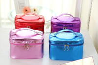 4 colors can choose hold brush big volume wholesale pu shiny cosmetic bag
