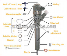 Bosch diesel injector repair kit , bosch injector shims , common rail injector adjusting shim