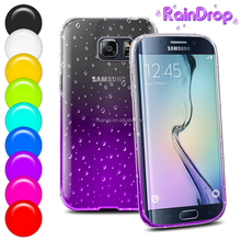 buy from china online Flashing transparent waterdrop smartphone cover raindrop gel case for samsung galaxy s6 edge china price
