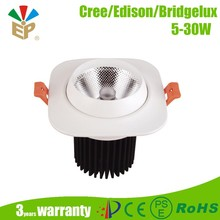 10W recessed square led ceiling light Dimmable COB IP20 baked white paint led down light