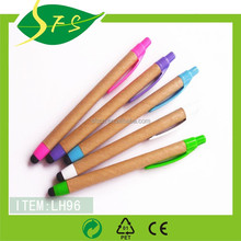 Promotional wood Pen in rainbow color /pen with good writing