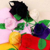 100pcs big size 38*58cm Cute Rose flower wedding gift Bags Eco Reusable Shopping Bag Foldable Bag DHL Freeshipping