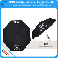 54 inch oversize car propmotional printed light 3 folding umbrella