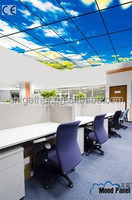 New led panel lights blue sky and white cloud lighting used in high-end office