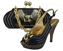 Wedding party clutch bag and bag for women matching italian shoes and bag set heel hight 12cm SY50606-1