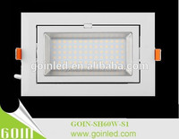 gimble led 60W rectangle recessed ceiling shop lighter lamps 60w with UL/SAA/FCC driver china manufacturer sell directly