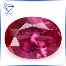Loose synthetic faceted rose color 3# corundum ruby beads