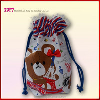 Small Cotton Fabric Mini Drawstring Nylon Mesh gift Bag