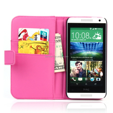 stand flip leather case for htc , wallet cae for HTC htc desire 610 case