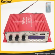 Kentiger 4 channel DC12V with remote control car amplifier
