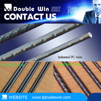high quality 1*7 prestressing concrete (PC) steel stitching stranded brush wire