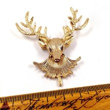 Hot sale Korean style fashion brooches jewelry brooch,Vintage deer head costume jewelry brooches