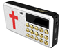 Solar panel with screen bible mp3 support TF card free audio high quality player free logo bible player T6