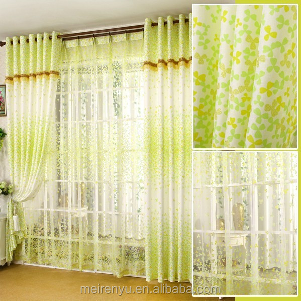 Cheap floral printed bedroom curtain custom 2015 simple for Flowery curtains design