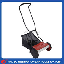 """15"""" Height Adjustable Classic Manual Hand Push 380MM Blade Lawn Mower"""