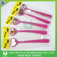 Lovely Designed Advertising Brilliant Rosy Soft Plastic Ballpoint Pen, Ball Pen