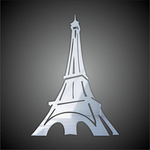 Funlife Paris Eiffel Tower Mirrors for Wall Art Stickers Wall Decals for Kid's Room MS361158