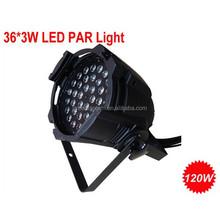 LED par can 36*3W RGB indoor par light for event,disco,temple,church & party