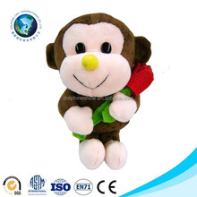 Plush animal keychain monkey stuffed