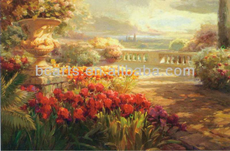 Hecho a mano de pintura al leo hermoso paisaje pinturas - Los cuadros mas bonitos ...