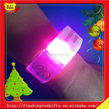 Children's day decorations led plastic bracelet wholesale light up plastic bracelet music festival items led pvc bracelet