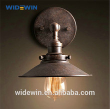 rústico rush retro brown de hierro de la pared la luz de la escalera de interior de iluminación para el hotel