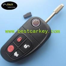 Latest 4 buttons smart key 875JB with 4D60 chip 315-433mhz (interchanged) for old Jaguar remote key