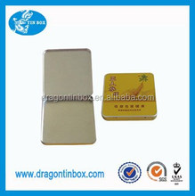2015 hot sale wholesale rectangular metal cigarette tobacco tin box