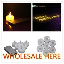 A distanza 180pcs/lot tealight candela di compleanno, nozze decorazione ingrosso candela, led candela bomboniere elefante regali