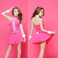 Sexy Rabbit Design Cosplay Dress Women,Club Dance Wear Sexy Costumes,Teddy Lingerie Night Dress