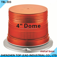 """High Quality 4"""" Dome Warning Light LED beacn with silver metal base"""