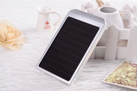 Ultra slim rechargeable panel power bank with top high quality solar power bank, power bank 2600mah