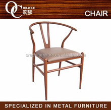 Fashion design imitation wood metal chair restaurant table and chair