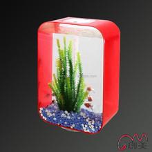 Factory direct sale modern plexiglass acrylic table aquarium fish tank