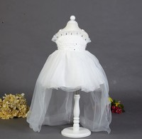 Best quality Europe style spaghetti strap lace dress designs kids dress gown baby girl maxi dressLT-19