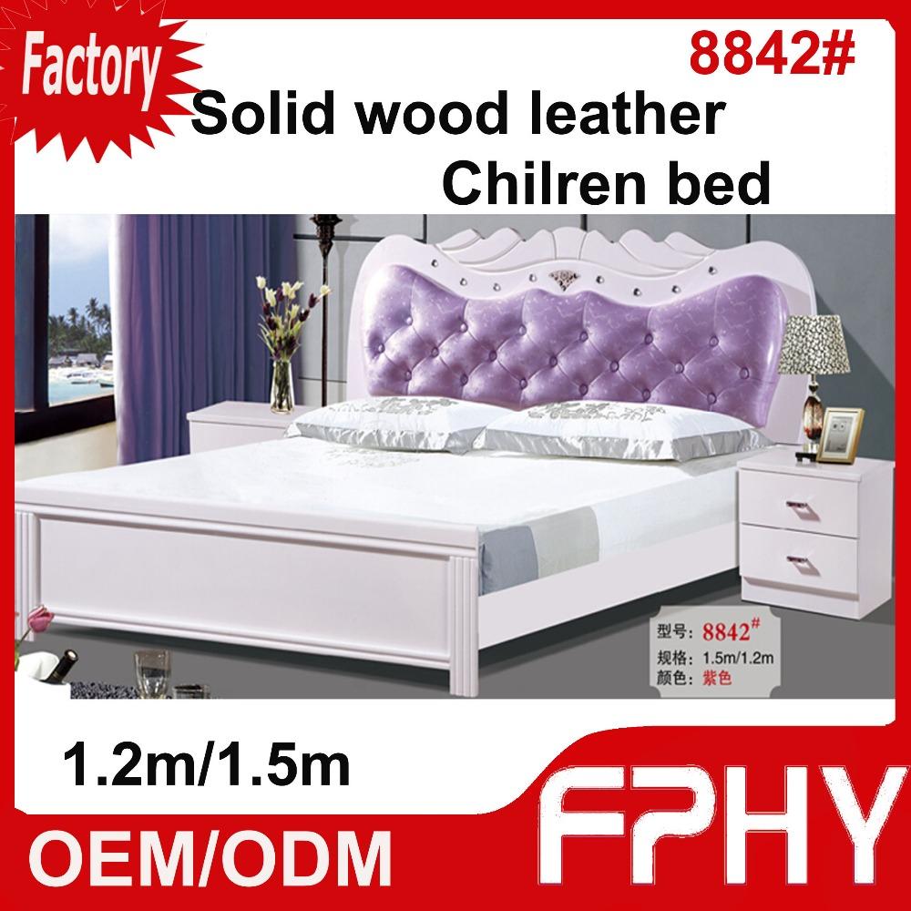 wholesales fphy bedroom furniture mdf colorful mdf wood bed designs