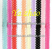 "5/8"" Frilly Elastic Lace Headbands Wholesale Lace Baby Headbands IN STOCK"