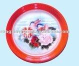 """enamel tray round tray enamel ware""""double happiness"""""""