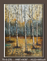 decorative items for living room, natural scenery oil painting, wall art pictures for hotels, modern cafe design YK-6-276