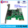 High speed pci-e to usb3.0 2 port converter card