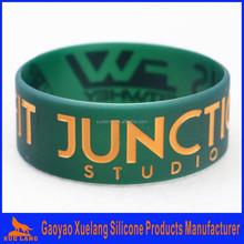 custom 1 inch silicone wristbands no minimum,hot sale 1 inch silicone bracelet
