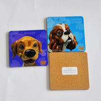 advertising item prmotional souvenir blank mdf cork coaster, natural wood coasters