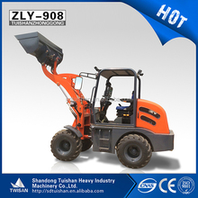 TWISAN 800kg high quality front end loader with 25kw diesel engine and 10-16.5 tire