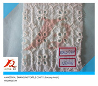 embroideried eyelet voile fabric